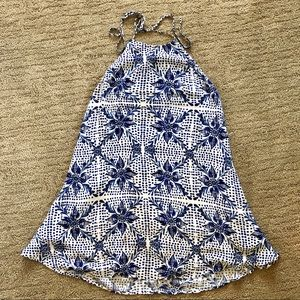 Blue & White printed Show Me Your Mumu Dress